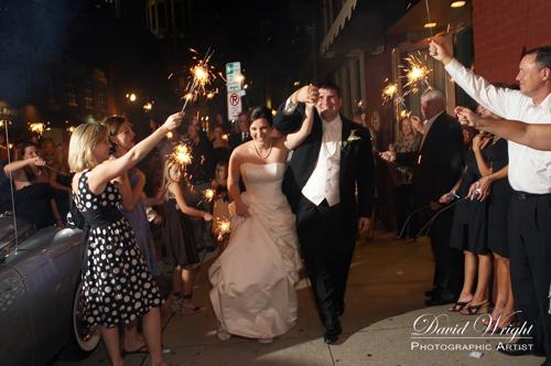 Fireworks downtown Nashville wedding